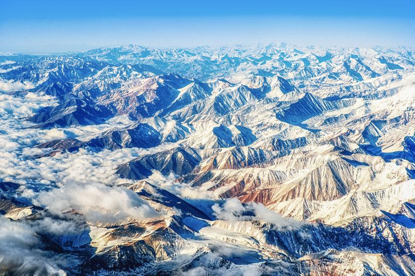 Die-Anden-aus-dem-Flugzeug-fotografiert